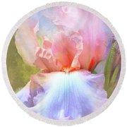 Pastel Iris Pleasure Round Beach Towel