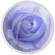 Pastel Purple Rose Flower Round Beach Towel by Jennie Marie Schell
