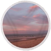 Pastel Sunrise Round Beach Towel