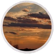 Pastel Sunset Round Beach Towel