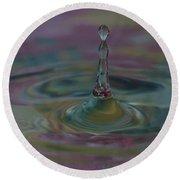 Pastel Water Sculpture 8 Round Beach Towel