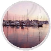 Pastel Waters Round Beach Towel
