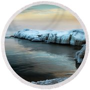 Pastels And Ice Round Beach Towel
