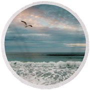 Pastels Round Beach Towel