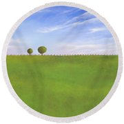Pasture Land Round Beach Towel