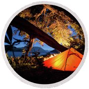 Patagonia Landscape Camping Round Beach Towel