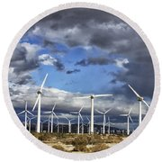 Patch Of Blue Palm Springs Round Beach Towel