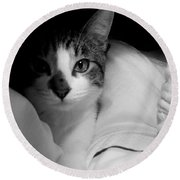Patch Of Love Round Beach Towel