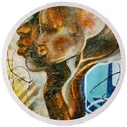 Paternal Captivity Round Beach Towel