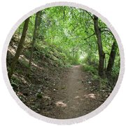 Path By The River Round Beach Towel