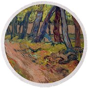 Path In The Garden Of The Asylum, By Vincent Van Gogh, 1889, Kro Round Beach Towel