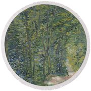 Path In The Woods Paris, May 1887 - July 1887 Vincent Van Gogh 1853  1890 Round Beach Towel