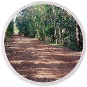 Path Into The Jungle Round Beach Towel