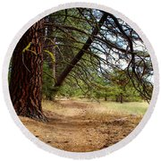 Path Of Enlightenment Round Beach Towel