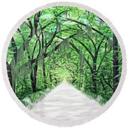 Path Of Life Round Beach Towel