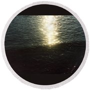 Path Of Sunlight Round Beach Towel