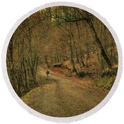 Path Round Beach Towel
