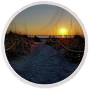 Path To Beach Round Beach Towel
