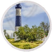 Path To Big Sable Round Beach Towel