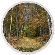 Path To Joiner Brook Round Beach Towel