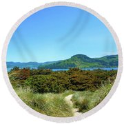 Footpath To Nestucca River Round Beach Towel