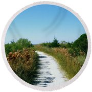 Path To Paradise Round Beach Towel