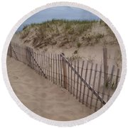Path To Provincetown Round Beach Towel