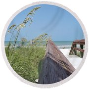 Path To Relaxation Round Beach Towel