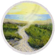 Path To Serenity Round Beach Towel