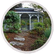 Path To The Gazebo Round Beach Towel
