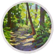 Path To The Lake Round Beach Towel