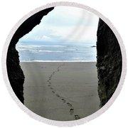 Path To The Ocean Round Beach Towel
