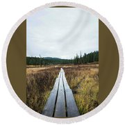 Path To The Unknown Round Beach Towel