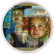 Paths Of Life Round Beach Towel