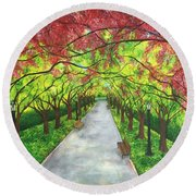 Serenity  Round Beach Towel by Lisa Bentley