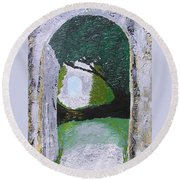 Pathway To Peacefullness Round Beach Towel