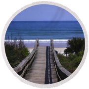 Pathway To The Beach Round Beach Towel