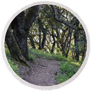 Pathways Round Beach Towel