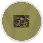 Patience Round Beach Towel