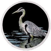 Patience On Little Lake Round Beach Towel