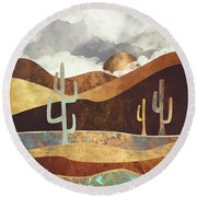 Patina Desert Round Beach Towel