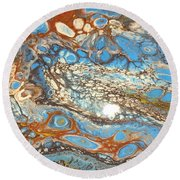 Patina Vanes  Round Beach Towel