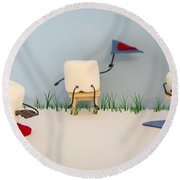 Patisserie Pastime Round Beach Towel by Heather Applegate