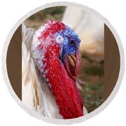 Patriotic Turkey Round Beach Towel