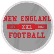 Patriots Retro Shirt Round Beach Towel
