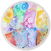Pattern And Form I Round Beach Towel