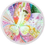 Pattern And Form II Round Beach Towel