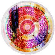 Pattern Art 004 Round Beach Towel