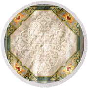 Pattern Art 030 Round Beach Towel