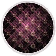 Pattern Of Stars Round Beach Towel